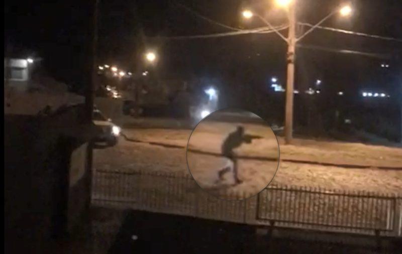 Vídeo mostra a ação da polícia no local – Foto: Reprodução/ND