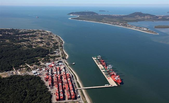 Porto de Itapoá visto de cima