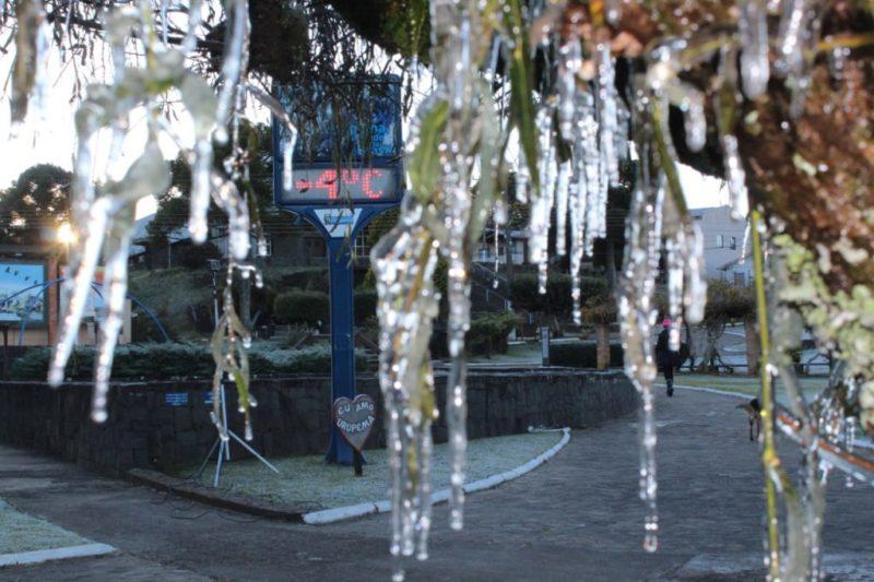 Estão sendo esperadas temperaturas abaixo de zero em várias regiões – Foto: Marcelo Muniz/PDC de Urupema/Divulgação/ND