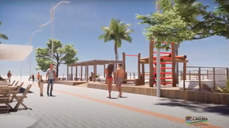 Prefeitura de Laguna estima investimento de R$5,5 milhões para revitalização da orla do Mar Grosso em Laguna, no Sul de SC – Foto: Divulgação/Prefeitura Laguna/ND