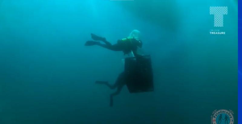 Mergulhadores poderão escolher as garrafas no fundo do mar – Foto: Vinícola subaquática/Divulgação