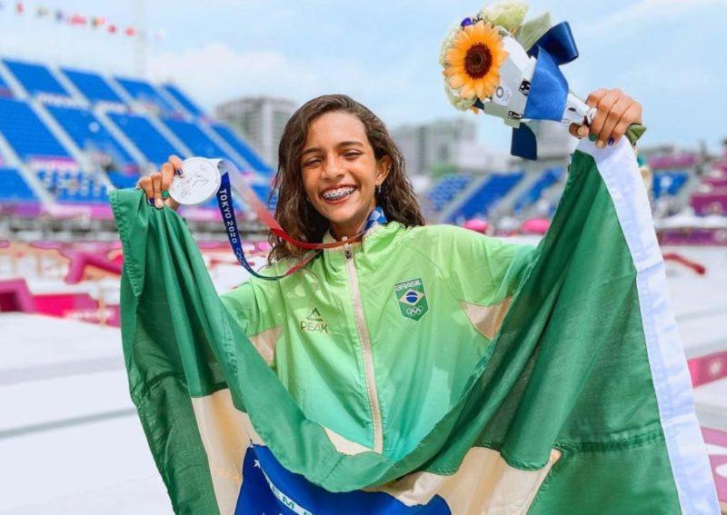 Rayssa Leal conquistou medalha de prata nas Olimpíadas – Foto: Reprodução/Internet/ND