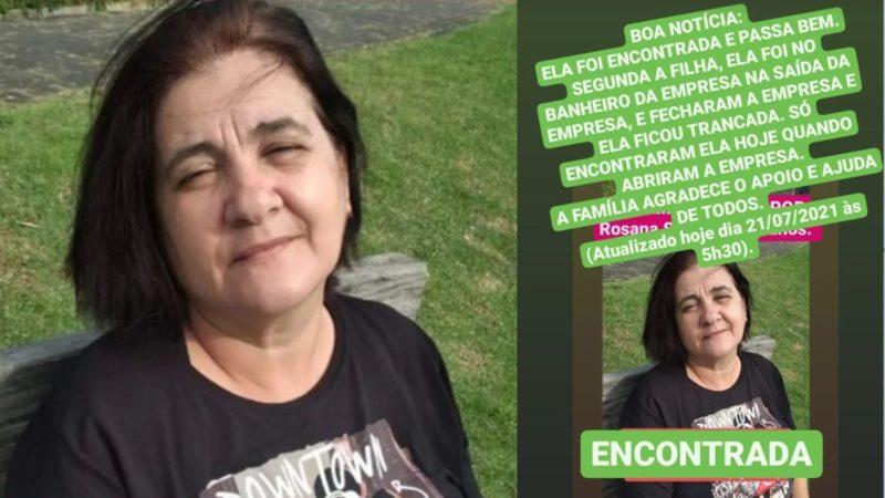 Família achou que Rosana estava desaparecida e fez apelo nas redes sociais – Foto: Reprodução/Redes Sociais/ND