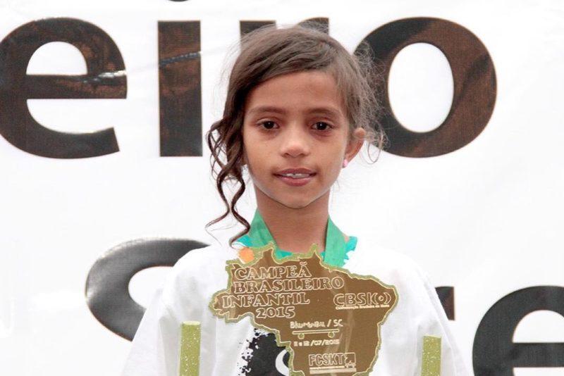 Fadinha venceu seu primeiro Campeonato Brasileiro aos 7 anos em Blumenau