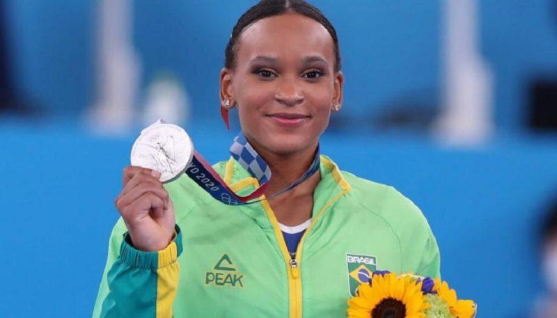 Rebeca Andrade fez história nesta quinta (29) ao conquistar a medalha de prata nas Olimpíadas de Tóquio – Foto: Ricardo Bufolin/ CBG