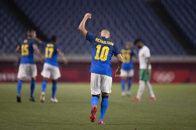 Richarlison é o artilheiro do torneio com cinco gols – Foto: Lucas Figueiredo/CBF