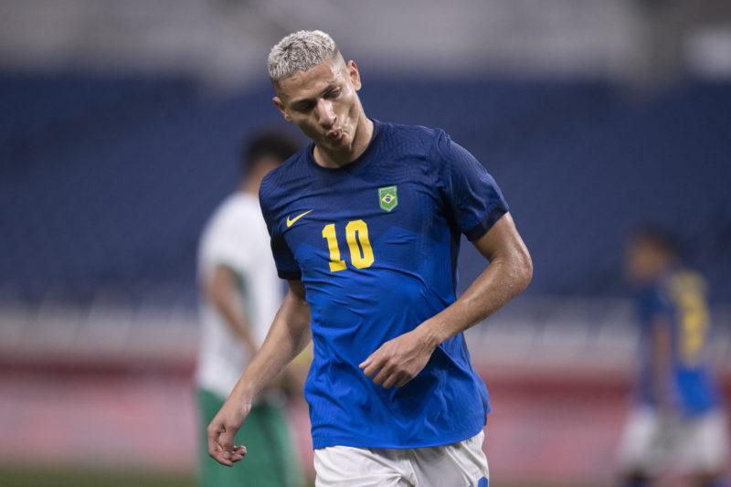 Brasil quer aproveitar a boa fase de Richarlison para seguir nos Jogos Olímpicos – Foto: Lucas Figueiredo/CBF