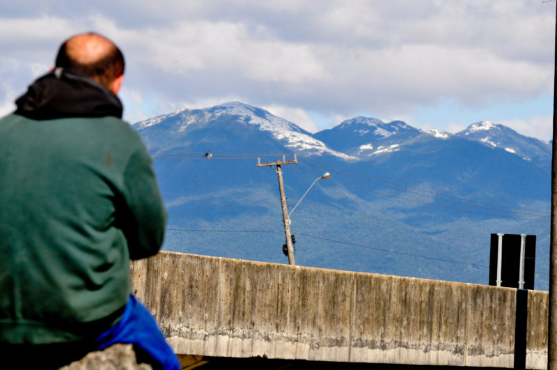 Nevada no Morro do Cambirela, em 2013, atraiu turistas para a Grande Florianópolis – Foto: Piero Ragazzi/ND