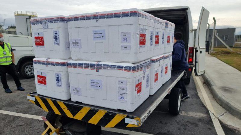 Novas remessas de doses de vacina contra a Covid-19 chegam em SC na segunda-feira (16) – Foto: Ministério da Saúde/Divulgação/ND