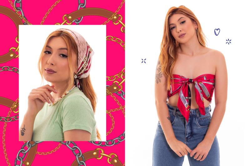 Os lenços e bandanas voltaram com mais versatilidade – Foto: Divulgação/FIP a Feira da Moda