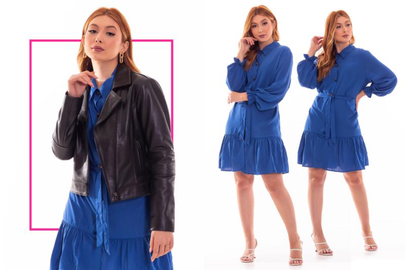 """A jaqueta de couro é a queridinha dos anos 1960 &#8211; <span style=""""font-weight: 400;"""">Foto: Divulgação Liquida/FIP a Feira da Moda</span>"""