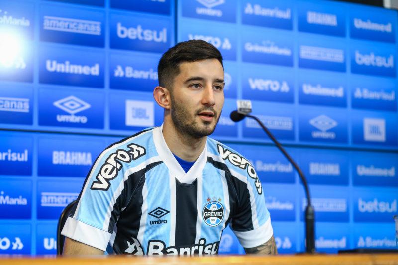 Mathias Villasanti chega ao Grêmio com referências de Arce e Diego Churín – Foto: Lucas Uebel/Gremio FBPA/ND