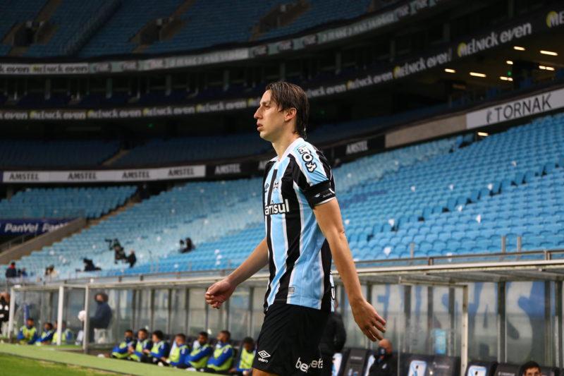 Afastado por dores musculares, Pedro Geromel pode ser novidade contra o Flamengo – Foto: Lucas Uebel/Grêmio FBPA