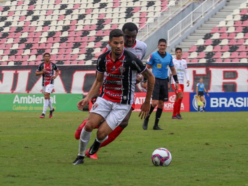 Paulo Victor é o artilheiro do time nesta Série D – Foto: Vitor Forcellini/JEC/Divulgação/ND