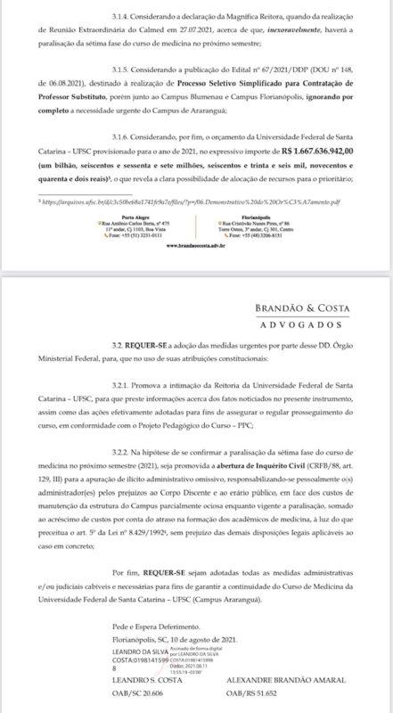 Advogados cogitam de inquérito civil contra a Reitoria da Ufsc – Foto: Divulgação