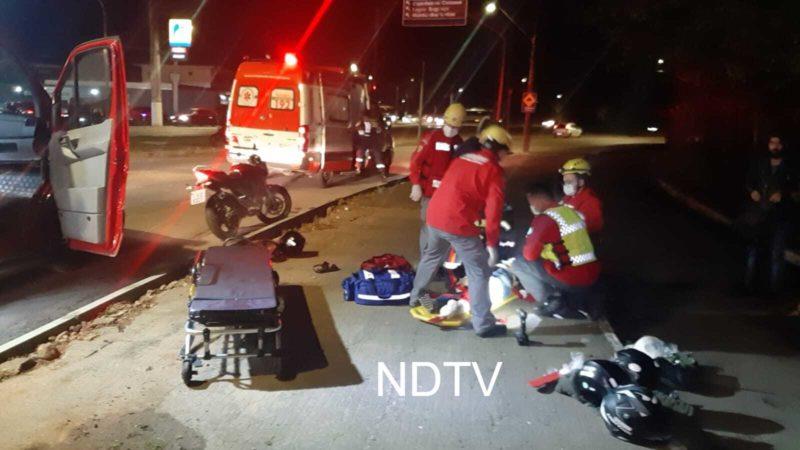 Acidente aconteceu na noite de domingo (8), na zona Leste da cidade – Foto: Thiago Bonin/NDTV