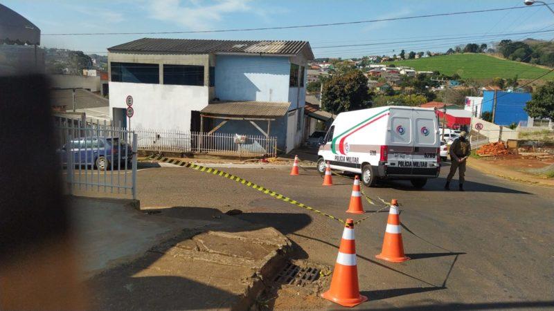 Ocorrência foi registrada no início da tarde desta quarta-feira (4). – Foto: Ana Lucieto/NDTV Chapecó/Divulgação
