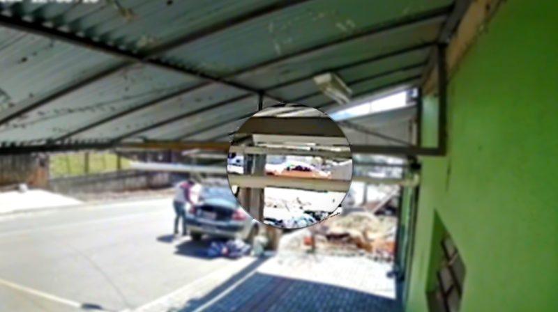 Imagem mostra a perseguição dos veículos em Chapecó — Foto: Arquivo pessoal/ND