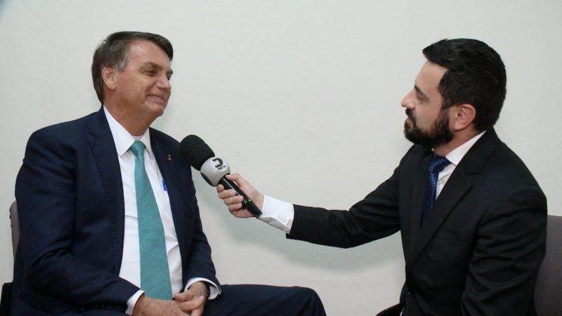 Equipe da NDTV entrevistou Bolsonaro nesta sexta-feira (6)