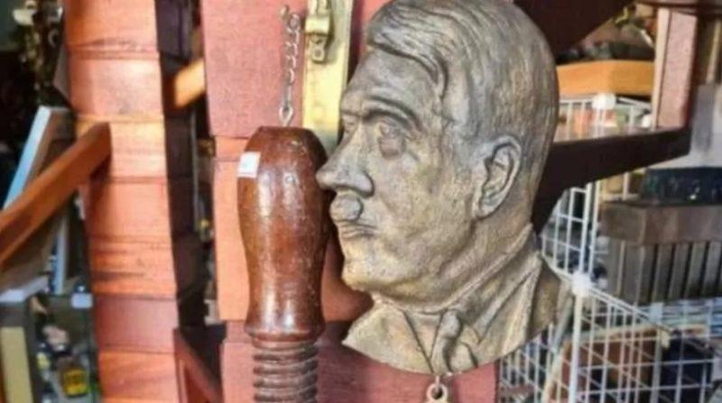 Busto de Hitler estaria sendo vendido em loja de antiguidades em Nova Trento – Foto: Reprodução/ND