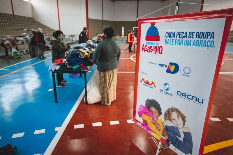 Para evitar possíveis erros, as caixas de coleta são identificadas com a arte da campanha nos pontos fixos de arrecadação – Foto: José Somensi/Reprodução/ND