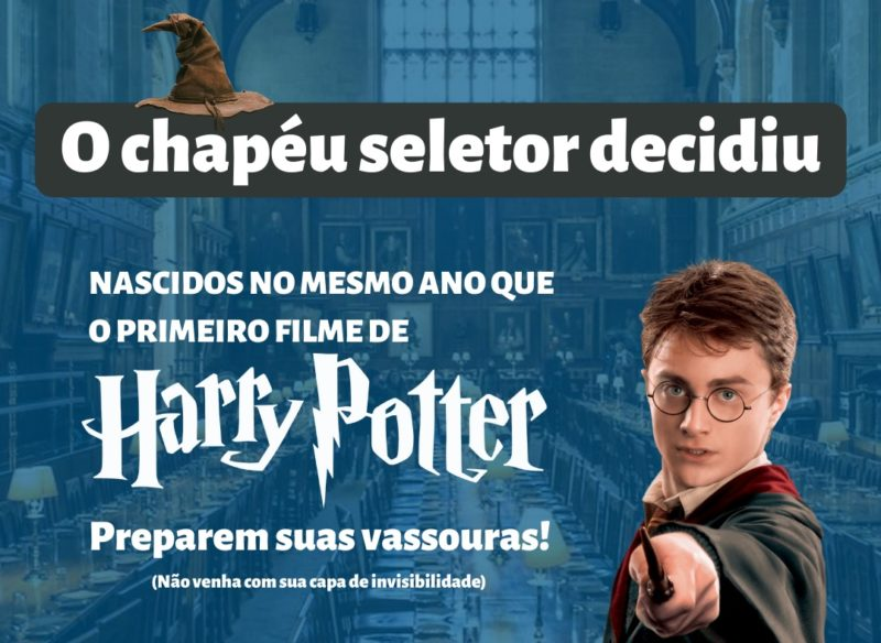 Harry Potter foi utilizada em campanha de vacinação para pessoas com 20 anos ou mais em Tubarão – Foto: Divulgação/PMT