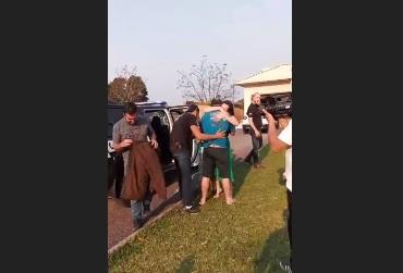 Caminhoneiro voltou para casa em Santa Rosa do Sul – Foto: Reprodução/ND