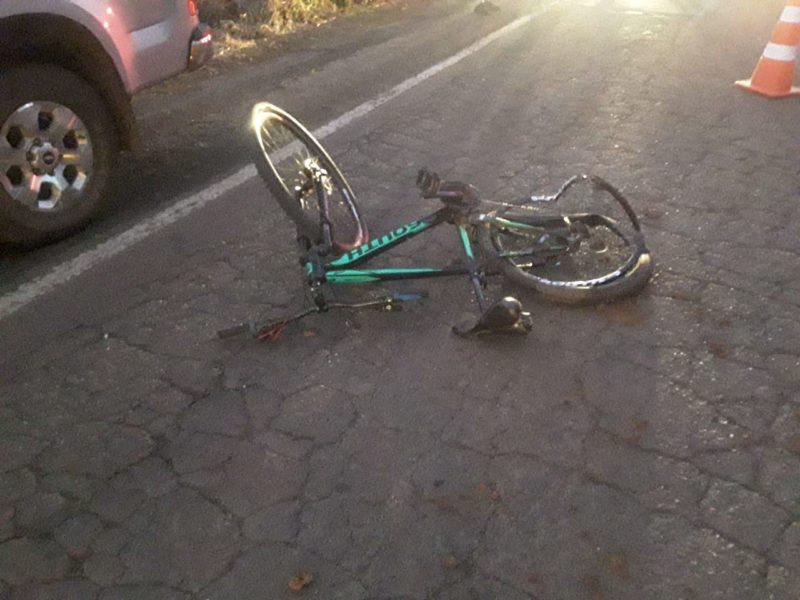 Ciclista ficou gravemente ferido – Foto: PMRv/ND
