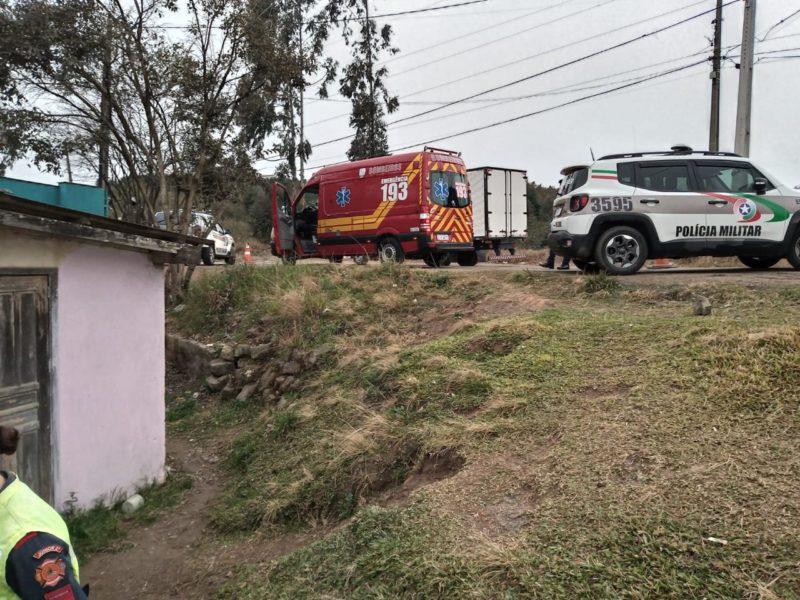 Corpo foi encontrado no pátio de uma residência em Rio Negrinho