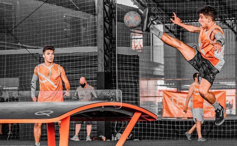 Dois atletas de Floripa surgem como feras do Teqball – Foto: divulgação/ND