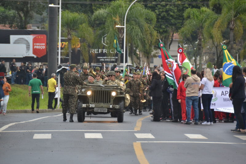 As unidades do Exército Brasileiro são sempre atração nos desfiles de 7 de setembro. – Foto: Divulgação