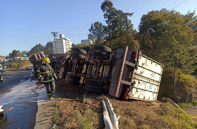 acidente foi registrado no 141 da BR-470