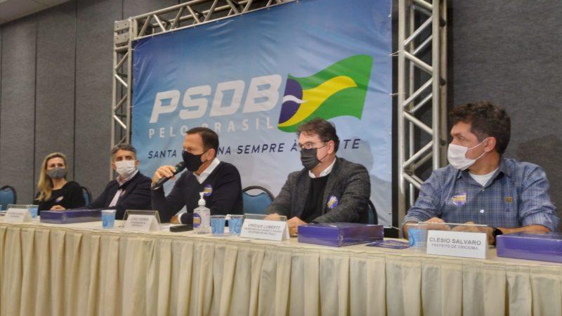 João Doria em Santa Catarina com lideranças tucanas
