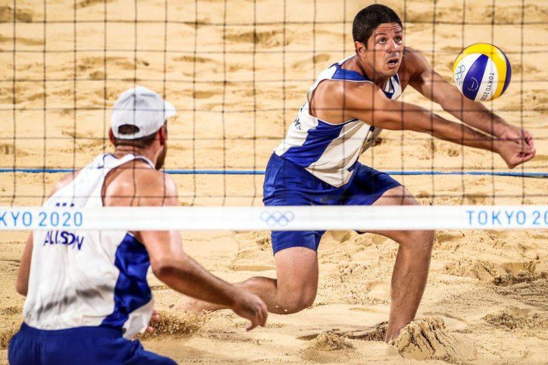 Alison e Alvinho pararam na dupla da Letônia; Brasil faz sua pior participação nos Jogos Olímpicos – Foto: COB/divulgação