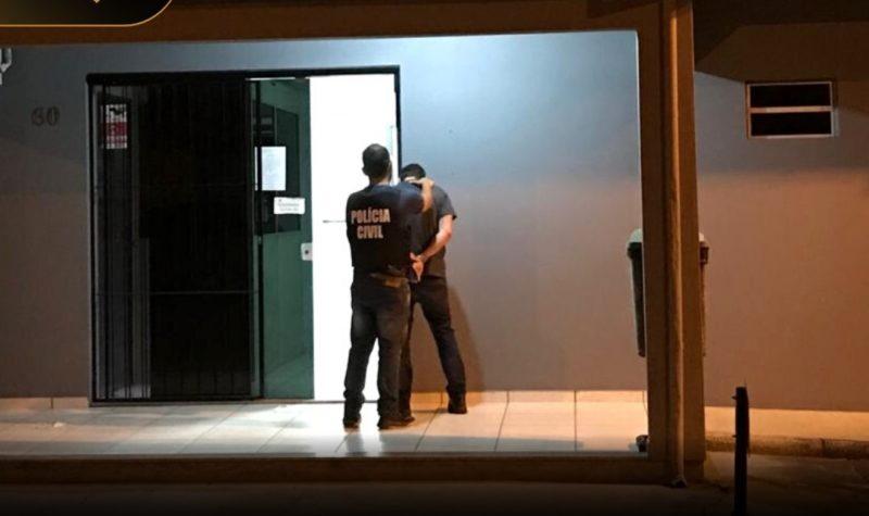 Homem foi preso em novembro de 2020 após investigação da Polícia Civil de Forquilhinha, no Sul de SC – Foto: Divulgação/Polícia Civil/ND