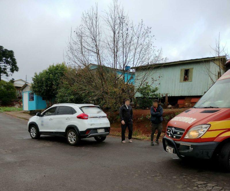 A vítima foi levada ao Hospital Frei Bruno – Foto: Bombeiros Divulgação ND