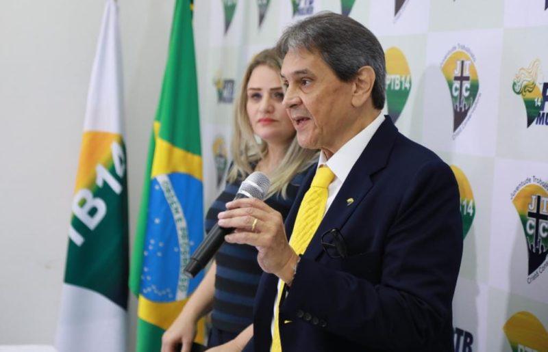 Graciela e Roberto Jefferson durante evento do partido – Foto: Reprodução/Facebook