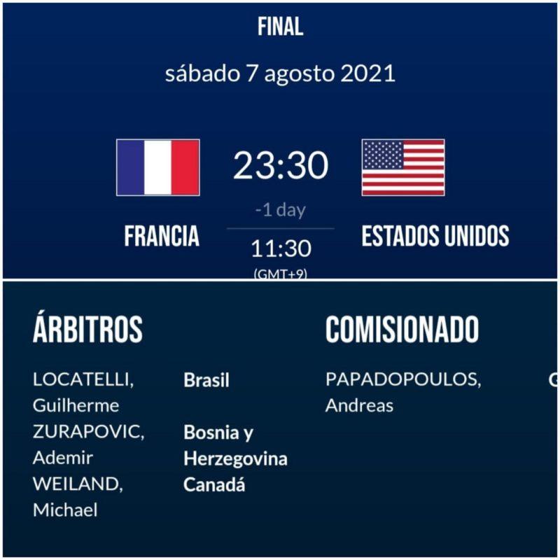 A escala da arbitragem para a final olímpica de basquete – Foto: Reprodução/Guilherme Locatelli