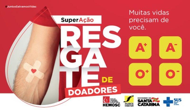 Nova campanha do Hemosc – Foto: Divulgação/ND
