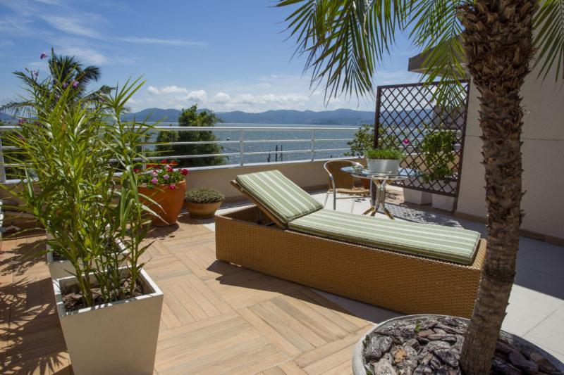 Vista da Residência Geriátrica Santa Inês, no bairro Estreito em Florianópolis – Foto: Herminio Nunes/ND