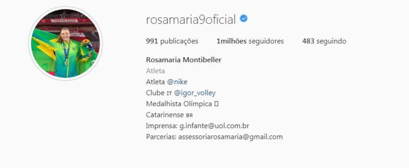 Rosamaria bateu a marca de 1 milhão de seguidores – Foto: Reprodução/Instagram