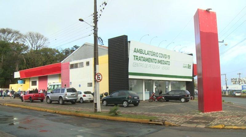 Movimentação tem aumentado no ambulatório Covid-19 de Chapecó. – Foto: Jair Correia/NDTV Chapecó