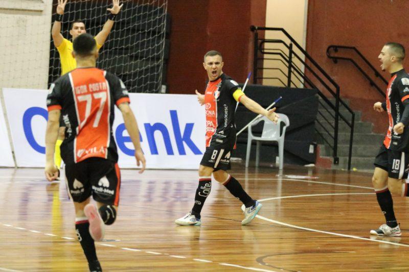 JEC Futsal está invicto no Campeonato Catarinense – Foto: Juliano Schmidt/JEC Futsal/Dvulgação/ND