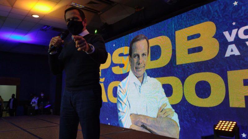 Governador de São Paulo, João Doria, em evento com a militância do PSDB em Florianópolis