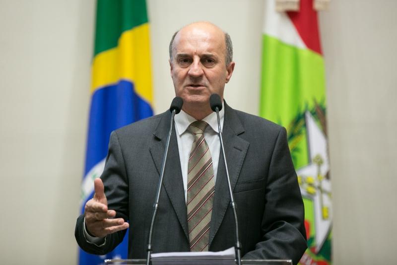 O deputado José Milton Scheffer é atual líder do governo na Assembleia Legislativa. – Foto: Alesc