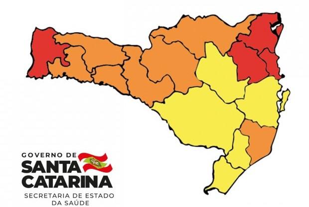 Regiões de risco grave diminuem em comparação a última matriz de risco divulgada – Foto: Governo de Santa Catarina/Divulgação/ND