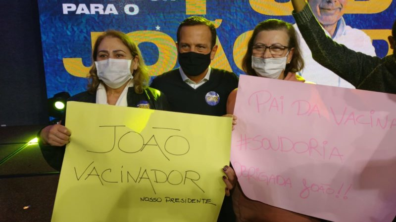 Pai das vacinas é um dos slogans de Doria para disputar prévias no PSDB