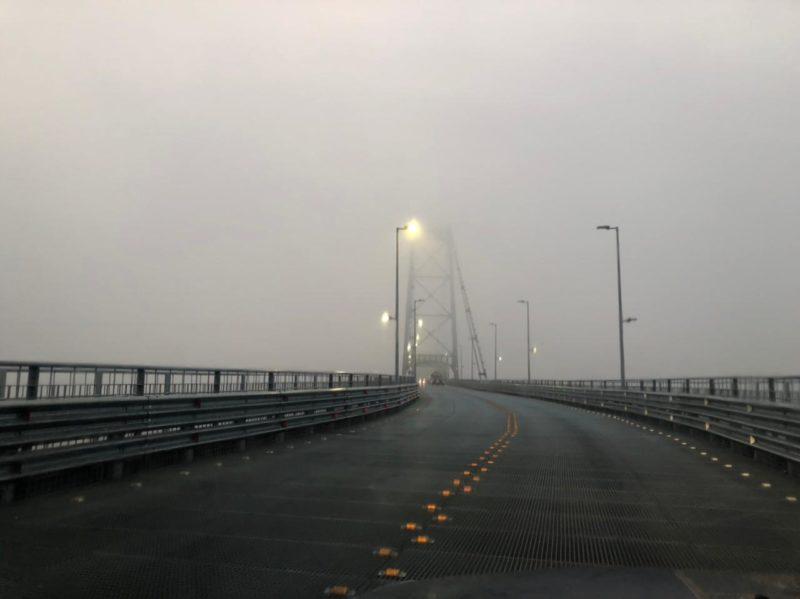 Nevoeiros na Ponte Hercílio Luz prejudicam visibilidade nesta terça-feira (10) – Foto: GMF/Divulgação/ND