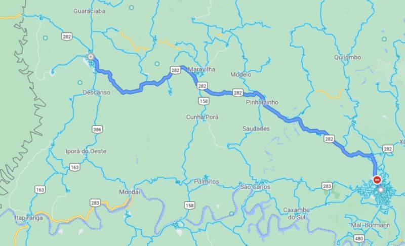 Trecho que vai receber os radares – Foto: Google Maps/ND