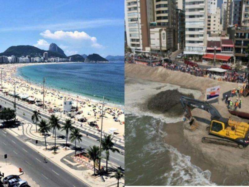 Balneário Camboriú se prepara para ser a Copacabana Catarinense após a conclusão do alargamento da faixa de areia da praia Central – Foto: Reprodução